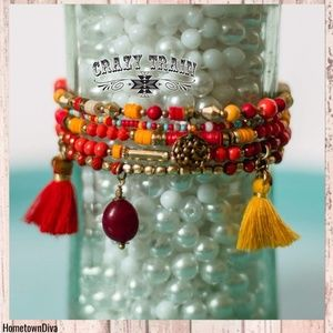 Crazy Train HONKY TONK FLAME BRACELET STACK